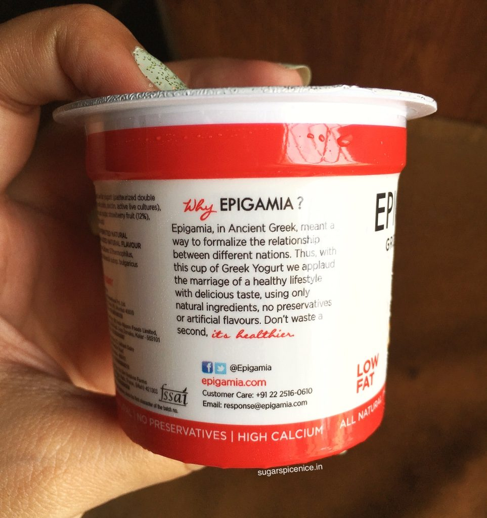 Epigamia Yogurt